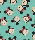 Tsum Tsum Mickey & Minnie Fleece Fabric 59\u0022-Tossed