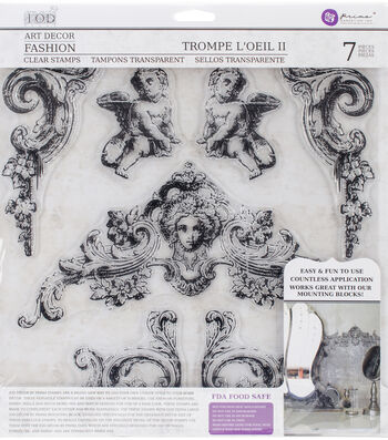 Iron Orchid Designs 7 pk Art Decor Fashion Clear Stamps-Trompe L'oeil 2