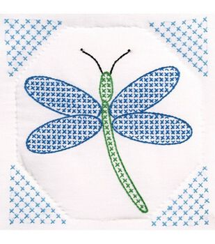 "Quilt Blocks 9""x9"" 12/Pkg-Dragonfly"
