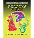 Dover Publications-Glow-In-The-Dark Dragon Stickers