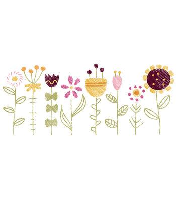 Cricut Small Flower Garden Iron-On Design