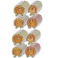 Carson Dellosa Dazzle Stickers Turkeys, 60 Per Pack, 12 Packs