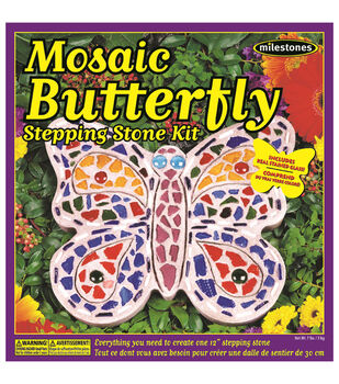 Midwest Products Mosaic Butterfly Stepping Stone Kit