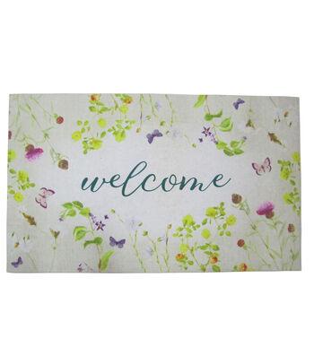 Hello Spring Gardening Rubber Door Mat-Welcome & Hydrangea