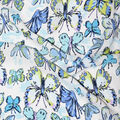 Fast Fashion Dobby Print Fabric-Lagoon Butterflies