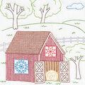 Stamped White Quilt Blocks 18\u0022X18\u0022 6 Pack-Barn