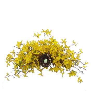 Blooming Spring Forsythia Bird Nest Swag