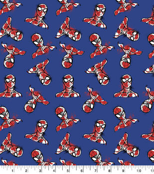 Marvel Spider-Man Flannel Fabric-Tossed Heads