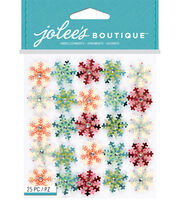 Jolee's Boutique 25 Pack 4''x4.5'' Stickers-Mini Snowflake, , hi-res
