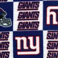 New York Giants Fleece Fabric -Logo