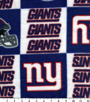 New York Giants Fleece Fabric -Logo