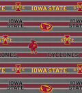 Iowa State University Cyclones Fleece Fabric 58\u0022-Polo Stripe