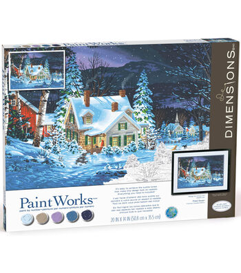 Paintworks Paint by Number Kit-Winter's Hush