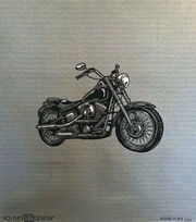 """Square By Design Woven Fabric 25""""-Motorcycle, , hi-res"""