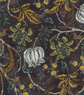 Vintage Cotton Fabric 43\u0022-Jacobean Black