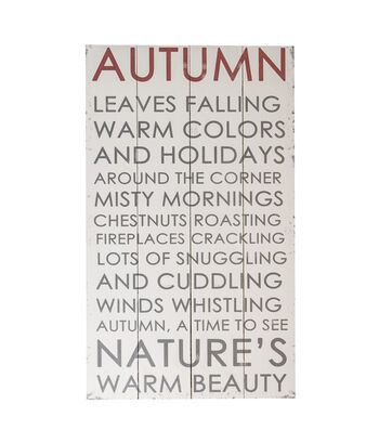 Simply Autumn Large Wall Decor-Neutral Autumn Leaves