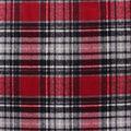 Anti-Pill Plush Fleece Fabric-Gray & Red Distressed Plaid