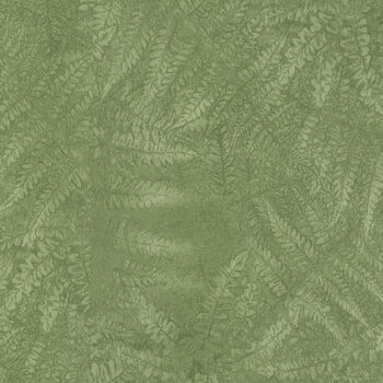"Tablecloth Vinyl 54""-Laura's Leaf Sage"