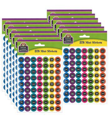 Teacher Created Resources Chalkboard Brights Mini Stickers 12 Packs