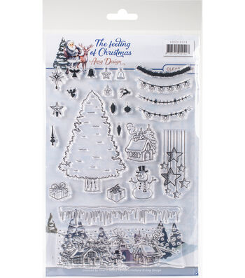 Find It Trading The Feeling of Christmas Amy Design 25 pk Clear Stamps