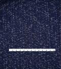 Varsity Club Ribbed Knit Fabric -Navy
