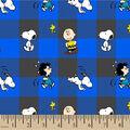 Peanuts Flannel Fabric-Tosed Buffalo Plaid