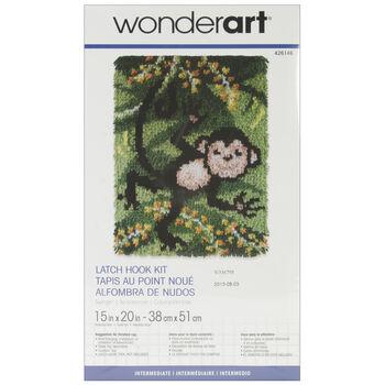 "Wonderart Latch Hook Kit 15""X20""-Swingin'"
