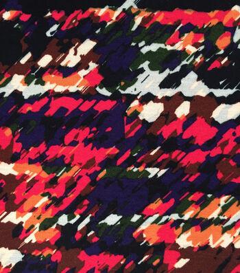Knit Rayon Spandex Fabric -Abstract Splatter
