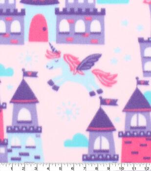 Blizzard Fleece Fabric-Unicorns & Castles