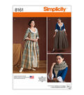 Simplicity Pattern 8161 Misses\u0027 18th Century Costumes-Size H5 (6-14)