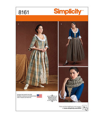 Simplicity Pattern 8161 Misses' 18th Century Costumes-Size H5 (6-14)