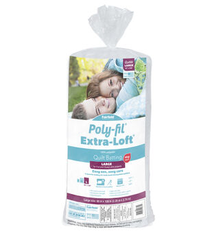 """Poly-Fil Extra-Loft Queen Size 90""""x108"""" 100% Bonded Polyester Batting"""