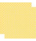 Echo Park Dots & Stripes Spring 12\u0027\u0027x12\u0027\u0027 Cardstock-Cream Dots on Banana