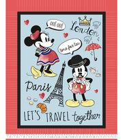 Mickey Mouse No Sew Fleece Throw-Vintage, , hi-res