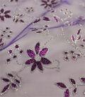 Let\u0027s Pretend Mesh Fabric-Purple Glitter Starflower