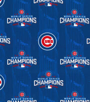 "Chicago Cubs Cotton Fabric 44""-World Series Championship, , hi-res"