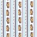Nursery Cotton Fabric -Monkey Stripe