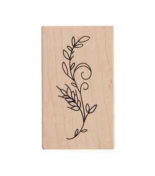 American Crafts Wooden Stamp Wheat