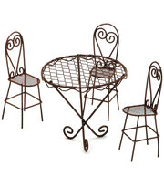 Timeless Miniatures-Wire Garden Table & Chairs Set, , hi-res