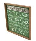 Camp Ann Wall Decor-Lake Rules