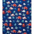 Doodles Interlock Knit Fabric 57\u0027\u0027-Patriotic Piranhas