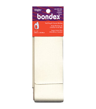 "Bondex Iron-On Twill Rug & Canvas Binding 2""X2yd-Oyster"