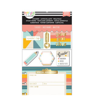 Happy Planner Note Cards/Sticky Note Multi Pack-Retro (teacher)