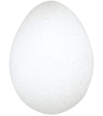 "Floracraft Styrofoam Eggs 3-3/16""X2-13/16"" 2Pk-White"