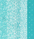 Charm Pack Cotton Fabric 30 Strips 5\u0027\u0027-Assorted Turquoise  Patterns