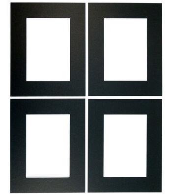 Framing Mats 4pk 8X10-Black