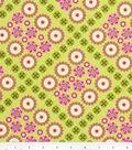 Home Essentials Lightweight Decor Fabric 45\u0022-Flower Patch Chartreuse