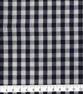 Cotton Shirting Fabric 42\u0027\u0027-Navy & White Little Gingham