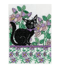 Design Works counted-cross-stitch Kit Lilac Floral Cat