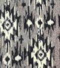 Luxe Fleece Fabric 59\u0022-Gray & Black Aztec